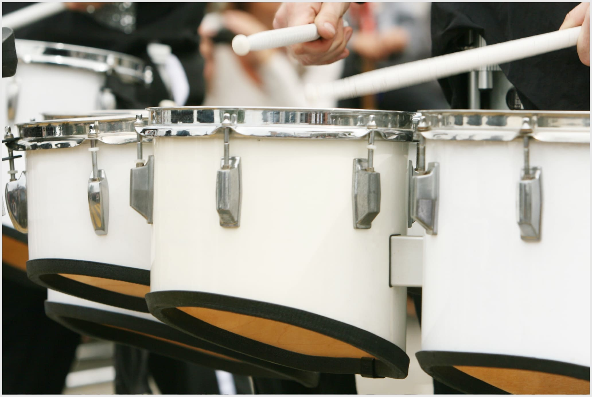 Drum line close up